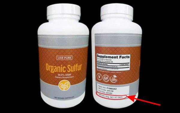 Organic sulfur arthritis solution